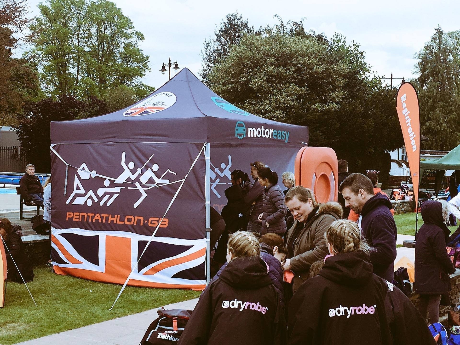 MotorEasy Sponsorship Pentathlon GB Biathle Marquee
