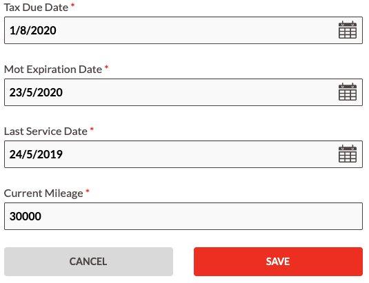 Car Service Date