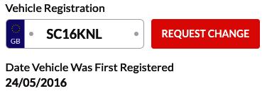 Change Your Registration Plate
