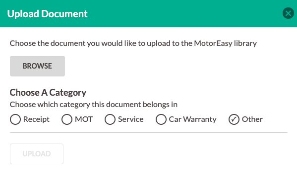 Upload Car Documents