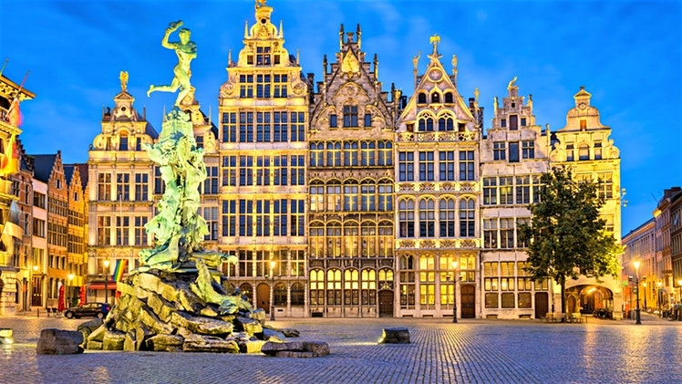 Travel to antwerp on a road trip through the channel tunnel