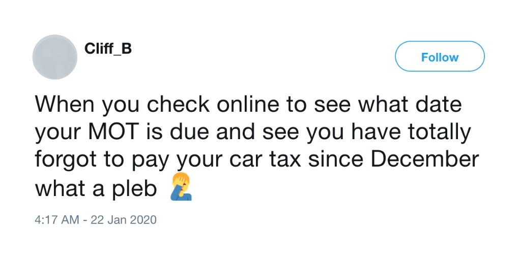 Forgotten tax date