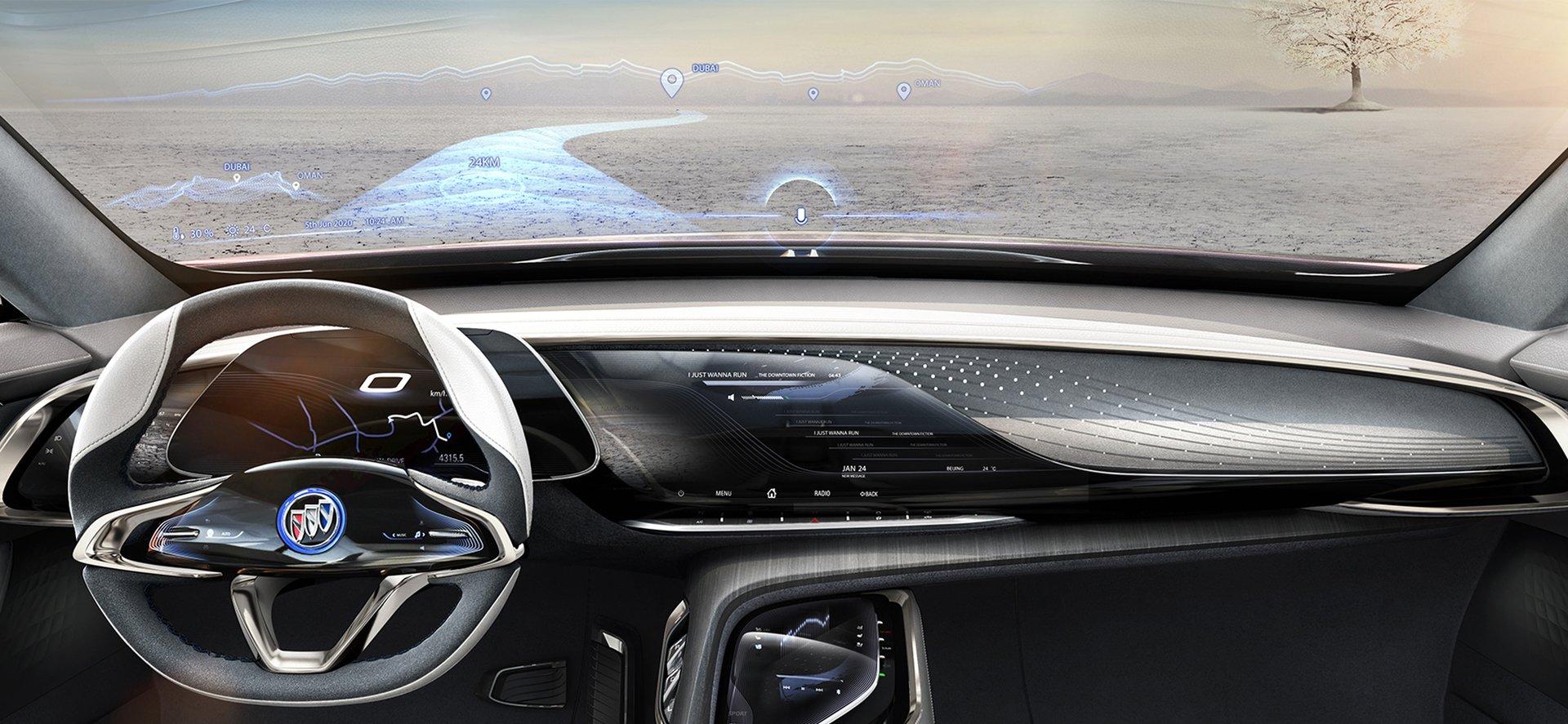 LCD car windscreen