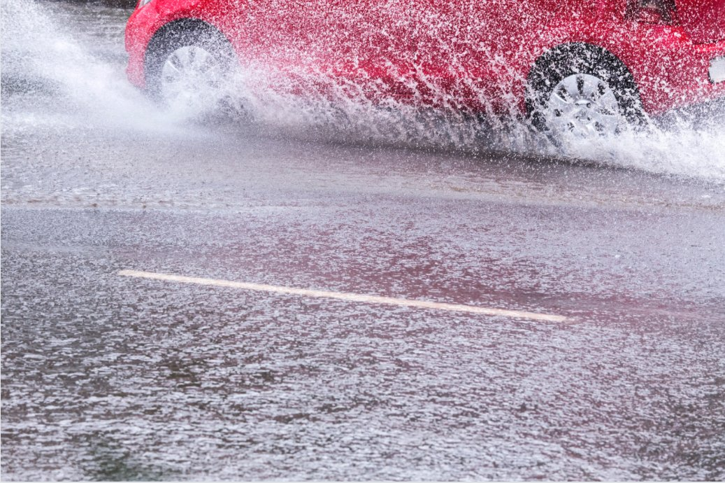 splashing pedestrians on purpose