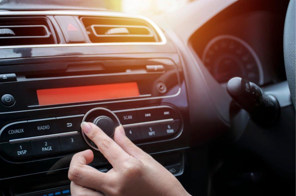 Loud music in the car