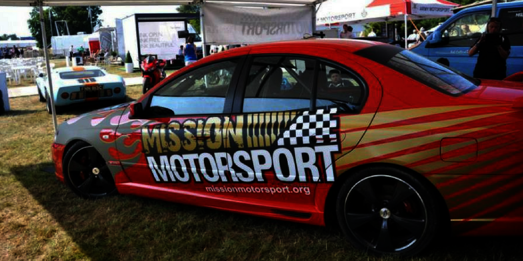 The mission motorsport car used during races