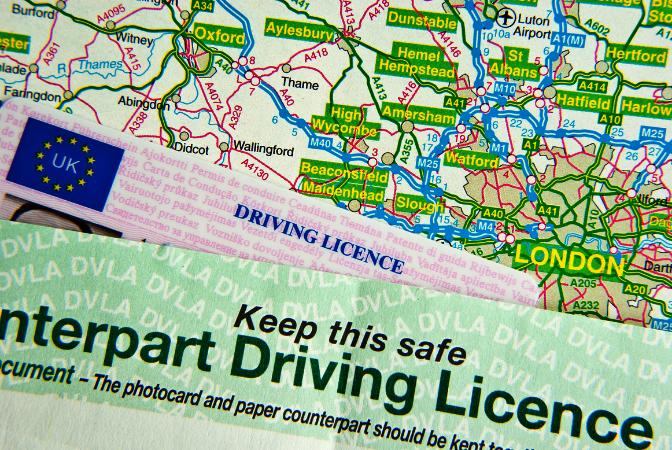 DVLA Driving Licence motoring points