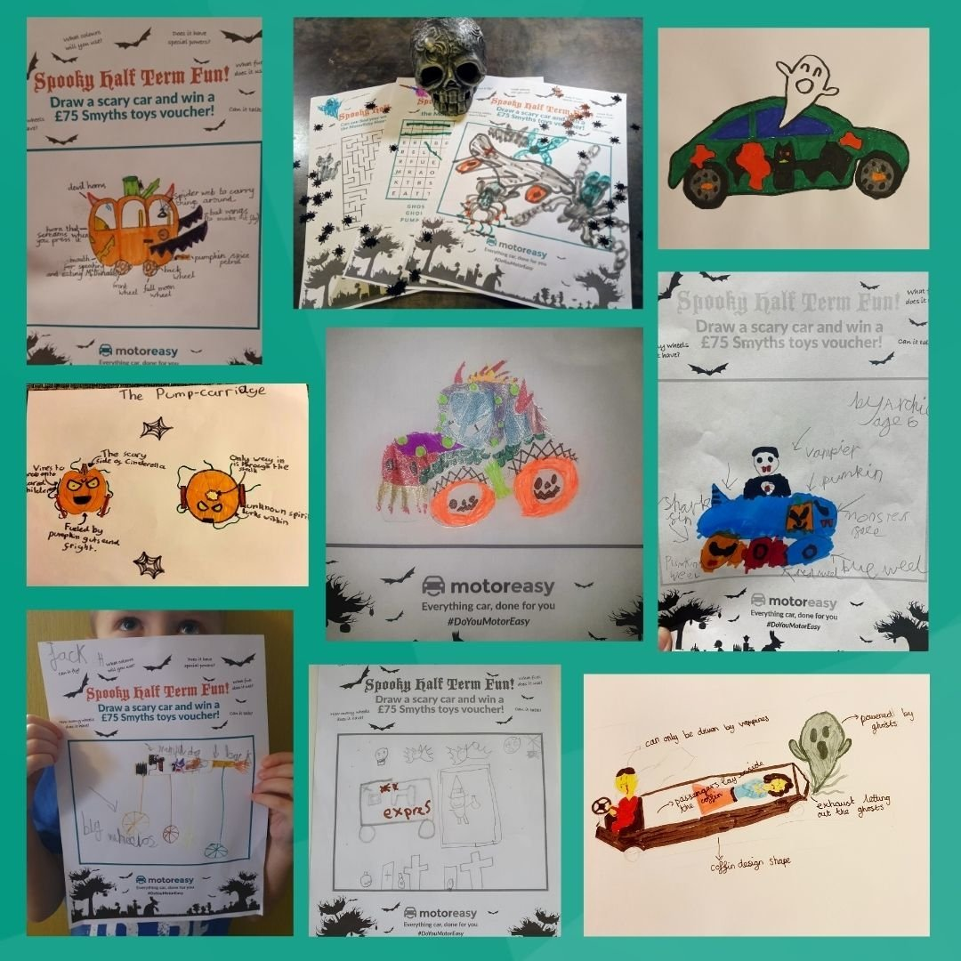 Competition entries of our half term halloween competition