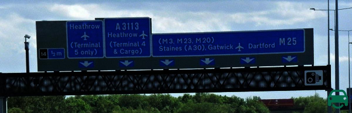 Motorway gantry signs being removed 5G network test