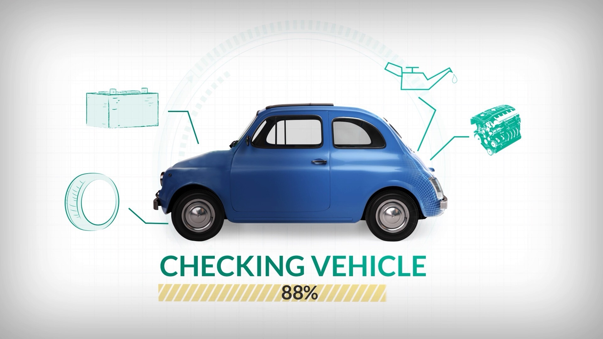 Car servicing is checked against manufacturer requirements