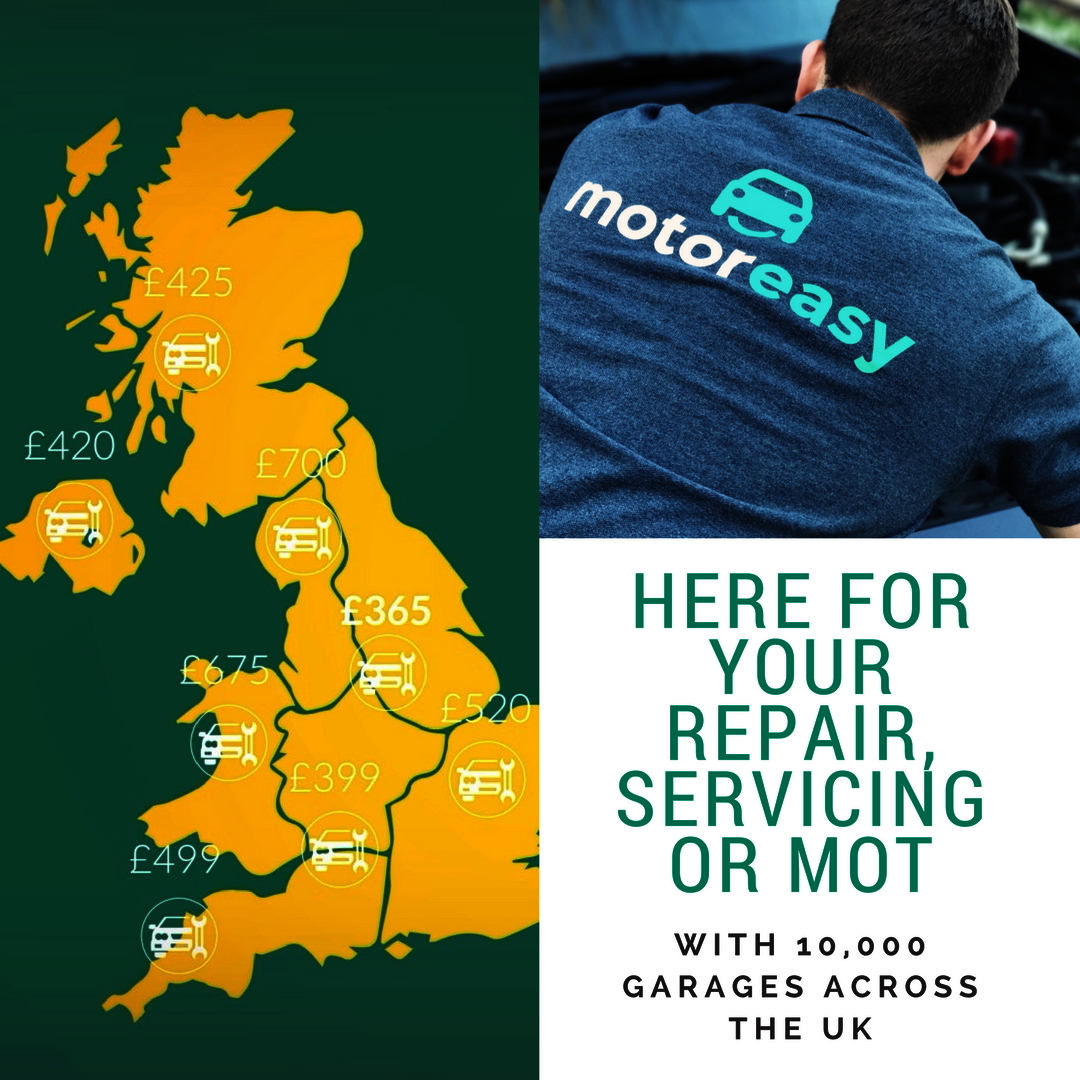 motoreasy network - 10,000 garages across the UK