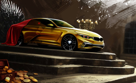 Game of Thrones BMW 3 Series performs a service