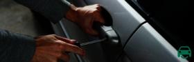 Car thief stealing BMW