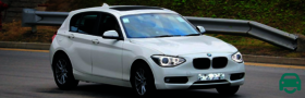BMW 1 Series White 3 door hatchback