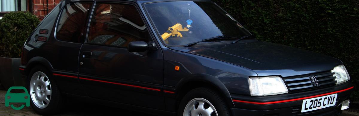 Used car buying - banger Peugeot 205 old motor