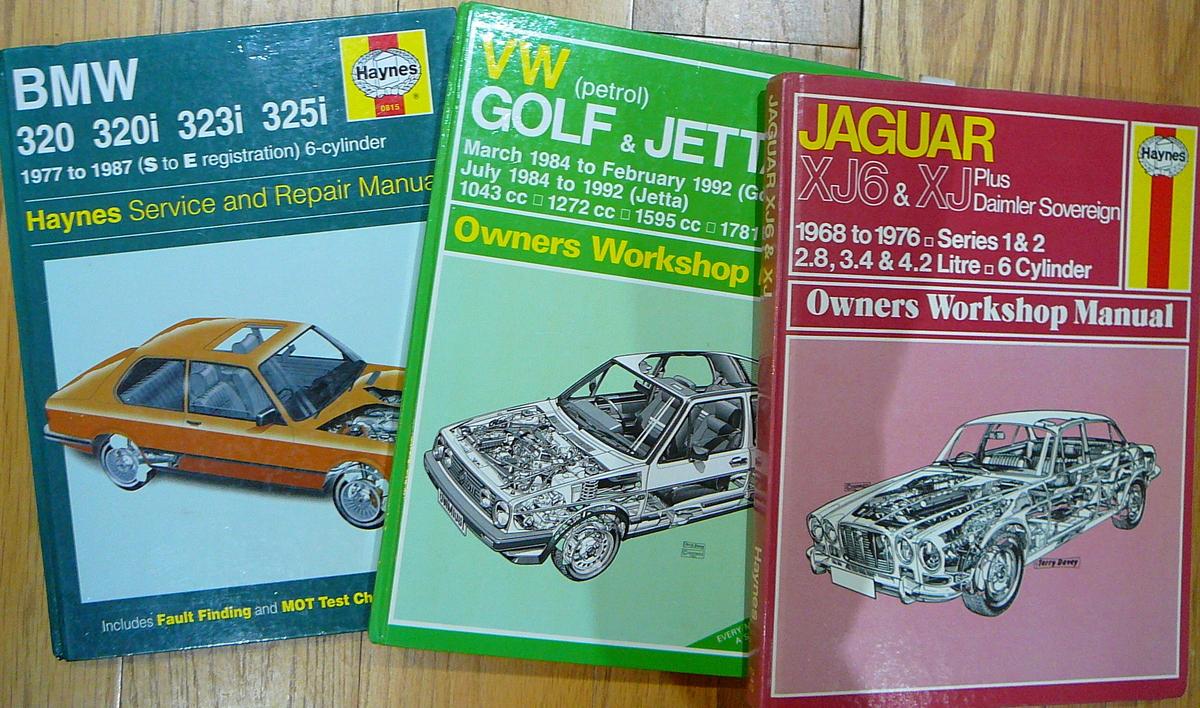 Car repairs and maintenance Haynes manuals