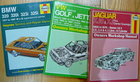Car repairs and maintenance Haynes manuals