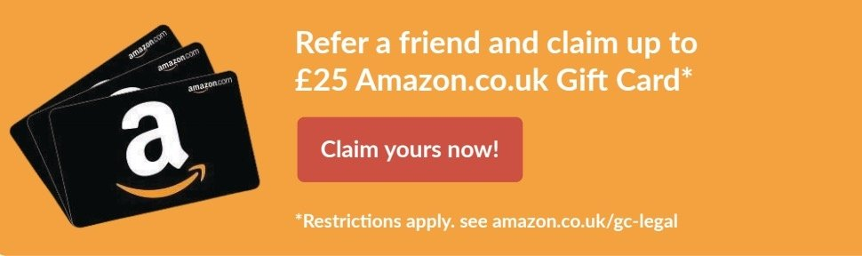 Refer a friend and claim an Amazon voucher