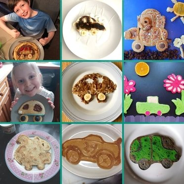 all the entrees for our car shaped pancake competition