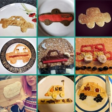Competition winners of our car themed pancakes