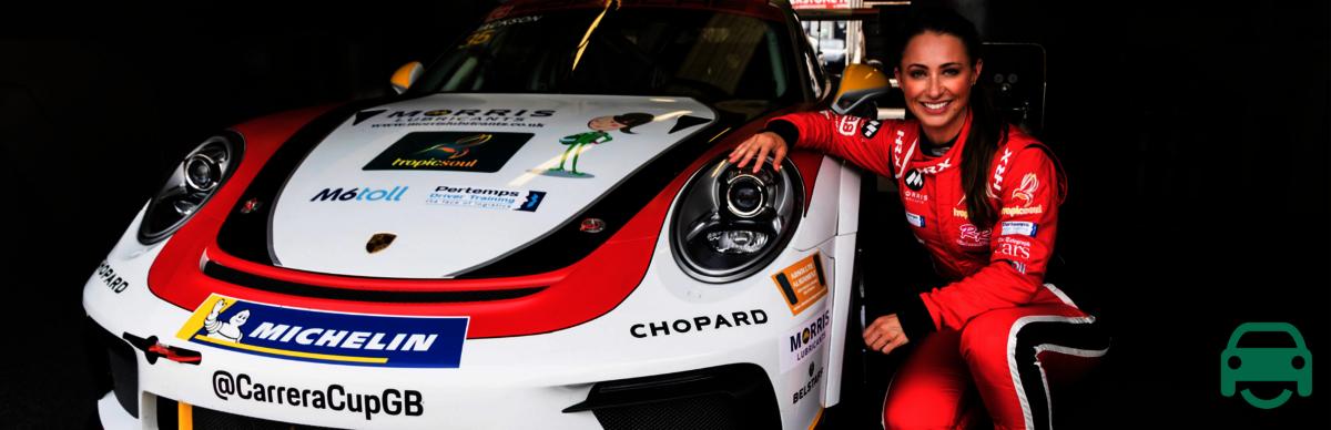 rebecca jackson rebecca racer racing car brand ambassador motoreasy
