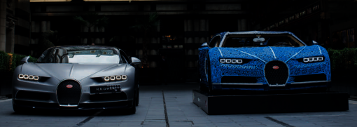 bugatti chiron made of lego