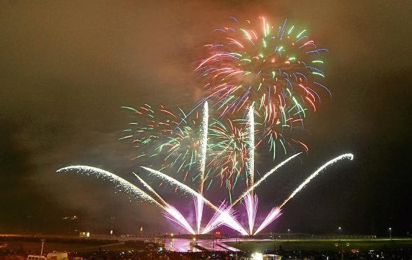 Seafront fireworks